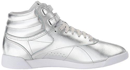 white steel White Classic Trainers Silver Met Reebok Womens 0fU8xwq