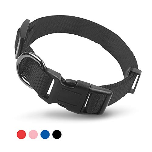 Vech Pets Heavy Duty Nylon Dog Collar, Personalized Dog Collar with Buckle Adjustable for Large Medium Small Dogs, Comfy…