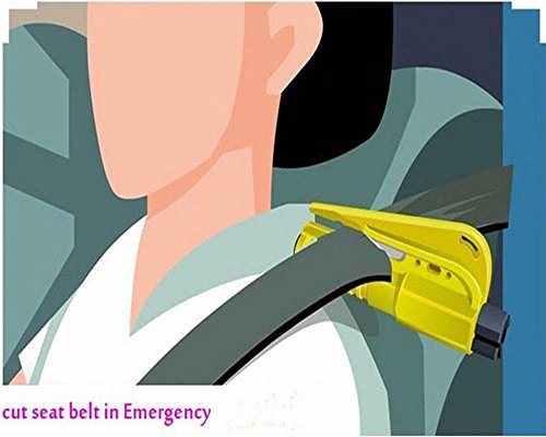 MECULE 2 Pack Keychain Car Escape Tool Seat Belt Cutter Window Glass Breaker Vehicle Car Safety Hammer for Emergency Quick Rescue - Yellow by MECULE (Image #7)