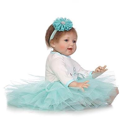 Spencertoys 22inch Realistic Reborn Baby Doll Silicone Vinyl Body Handmade Realistic Lifelike Lovely Girl Bady: Toys & Games