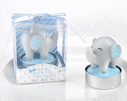 Little Peanut Elephant Shaped Candles (48, Blue) by Kate Aspen