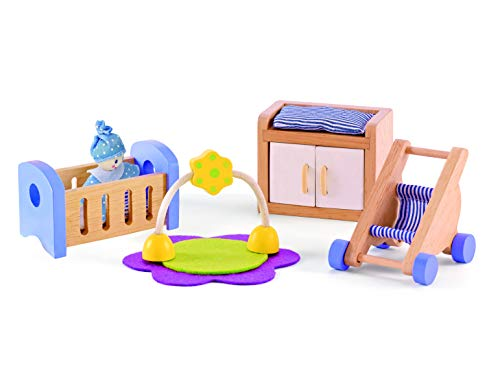 Hape Wooden Doll House Furniture Baby