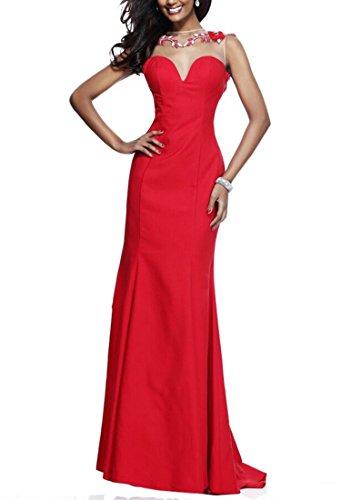 Halsband Damen emmani Mermaid Rot Rot Kleid Rund Ball qSzdzx5