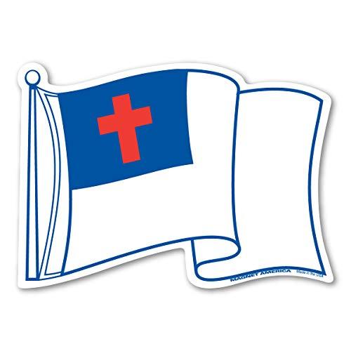 Waving Christian Flag Magnet ()