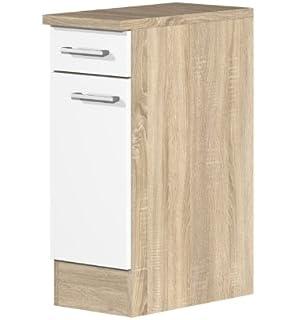 Geräteumbauschrank 60 cm breit für Kühlschrank 88 cm hoch Creme ...
