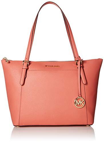 Michael Kors Ciara Large Top Zip Womens Saffiano Leather Tote (PNKGRAPFRUIT)