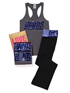 Victoria's Secret New York GIANTS Racerback Tank and Yoga Pant Size L Gift Set