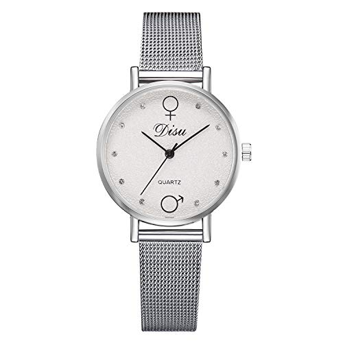 Londony ✡ Women's Grant Quartz Stainless Steel and Leather/Mesh Chronograph Watch with Love Knot Bracelet Gift Fashion