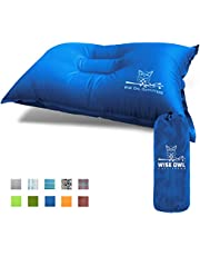 Wise Owl Outfitters Camping Pillow Lightweight & Self Inflating – Inflatable Foam & Air Compact Camp Pillow Best for Lumbar Support Travel Airplane Camping Hammock Sleeping