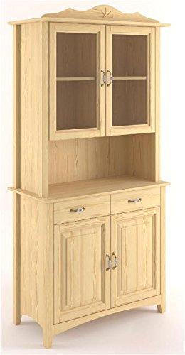 Armario de comedor, vitrina, 80 cm de ancho, madera maciza de pino ...