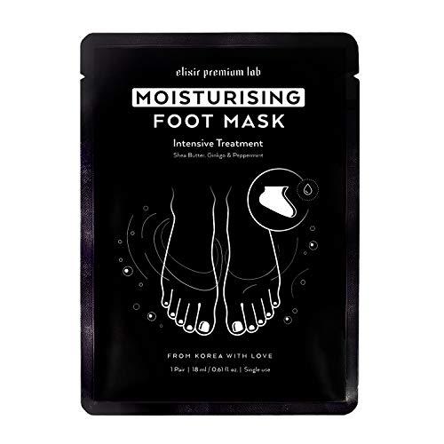 Moisturizing Foot Mask - Hydrating Socks for Women & Men - Spa Feet Treatment Booties - Best Korean Moisturizer for Dry Heel (1 Pack) ()