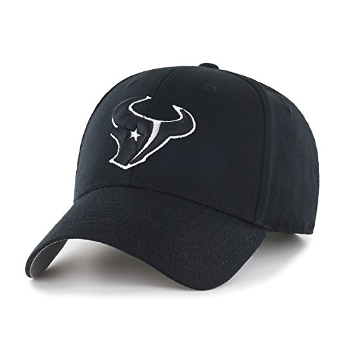 NFL Houston Texans OTS All-Star Adjustable Hat, Black & White, One Size
