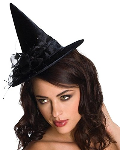 Rubie's Costume Co Blk Mini Feather Witchhat Costume