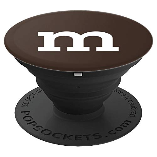 The famous halloween letter m - Halloween Brown - PopSockets Grip and Stand for Phones and -
