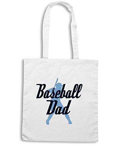 T-Shirtshock - Bolsa para la compra OLDENG00018 baseball dad Blanco