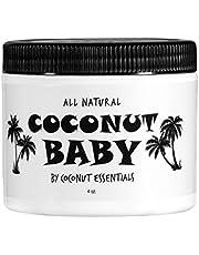 Coconut Baby Oil for Hair & Skin - Organic Moisturizer - All Natural - Massage - Sensitive Skin, Diaper Rash Guard - Infant Scalp - with Sunflower & Grape Seed oils - 4 fl oz