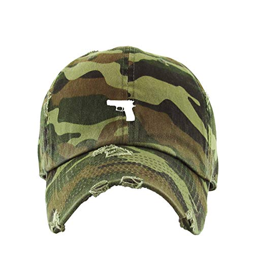 Glock Gun Vintage Baseball Cap Embroidered Cotton Adjustable Distressed Dad Hat Camo (Glock Hat Camo)