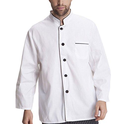 Clothes Work Zhuhaitf Uniform Advanced Long Antifouling White Alta calidad Chef Sleeve Unisex wqrvXwz