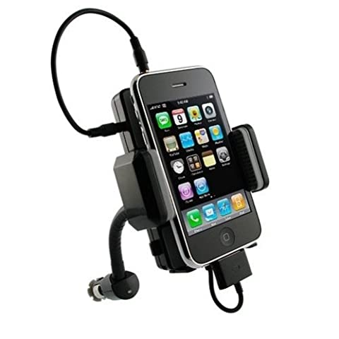 SELNA Multi-Channel Car Audio FM Transmitter Charger Rotating Mount Holder Cradle USB Port for iPhone 4 / 4S / 3GS, iPOD Nano 1st 2nd 3rd 4th 5th Generation (1G 2G 3G 4G 5G) - iPod Touch 1st 2nd 3rd 4th Gen - Ipod Classic - iPod Mini / Photo / (Iphone 4s Car Transmitter)