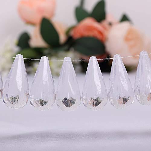 Efavormart Angel's Tears 50 pcs Acrylic Diamond Clear ()