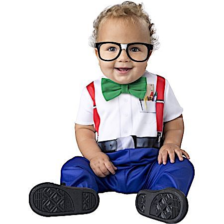 Infant Baby Nerd Halloween Costume 3 Piece Set 12-18m (Toddler Nerd Costumes)