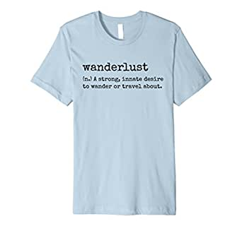 Mens Wanderlust Defined Cool Travel Digital Nomad T-Shirt 2XL Baby Blue
