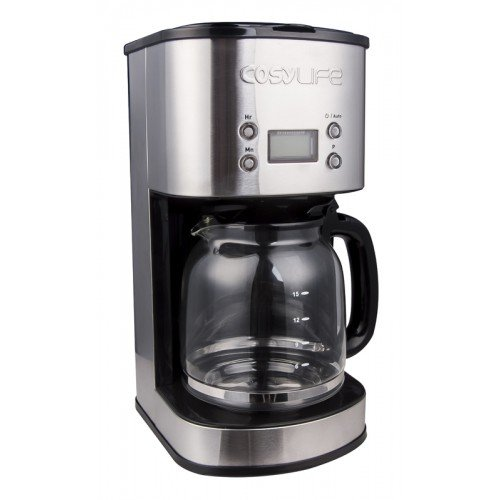 Cafetiere cosylife 1000 W 15 tazas - Cafetera programable ...