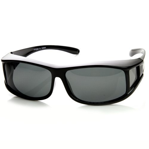 zeroUV - Full Protection Polarized Lens Large Cover Wrap Sunglasses with Side Lens - Coverage Sunglasses Full