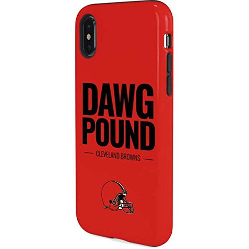Skinit Cleveland Browns Team Motto iPhone X Pro Case - Officially Licensed NFL Phone Case Pro, Scratch Resistant iPhone X Cover