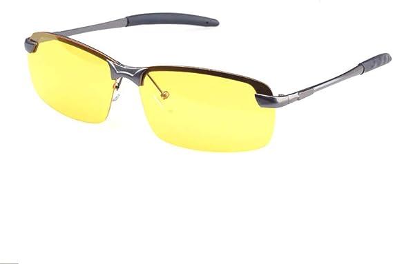 New AVIATOR Yellow Lens UV 400 Black Sunglasses Night Vision Driving Glasses