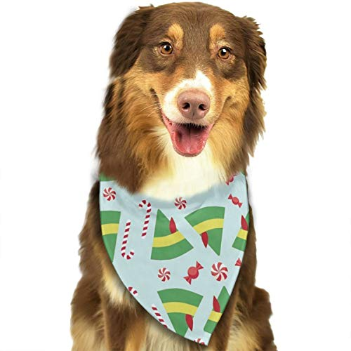OURFASHION Elf Buddy Inspired Bandana Triangle Bibs Scarfs Accessories for Pet Cats and Puppies ()