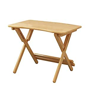 Computer Workstations Computer Desk Wooden Computer Table Catering Game Table Office Folding Table Lift Table (Color : Beige, Size : 80 * 50 cm)