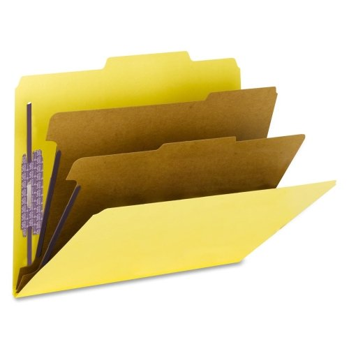 Wholesale CASE of 5 - Smead SafeShield Coated Prsbrd Clssifction Folders-Classification Fldr, Psbd, Ltr, 2/5'' Roc, 2 Div, 10/BX, YW by MSD Ignition