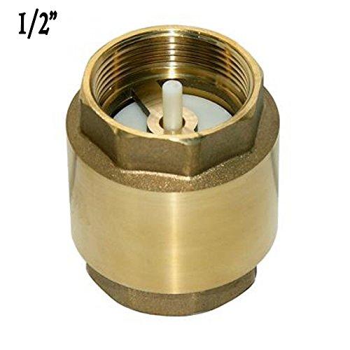 Fabricada en lat/ón. V/álvula de retenci/ón utilizada en tubos de 20mm VALVULA DE RETENCION 1//2 Impide que el flujo de agua vuelva hacia atr/ás en las tuber/ías de riego Suinga