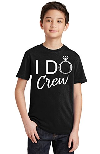P&B I Do Crew Funny Wedding Youth T-shirt, Youth S, Black