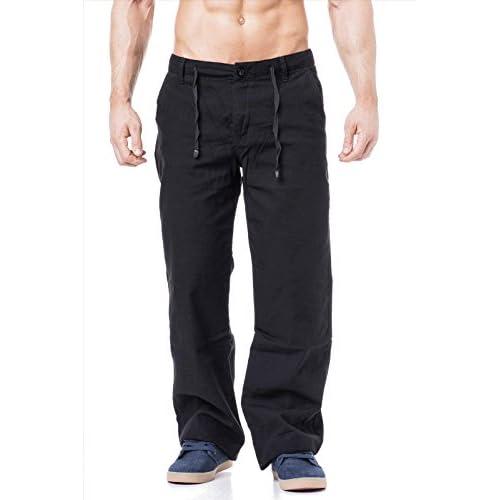Durable Service Kdwn Pantalones Para Hombre Pantalones De Lino