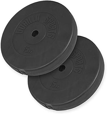 Gorilla Sports Vinyl Weight Plate Set 2x 5KG 2x 10KG