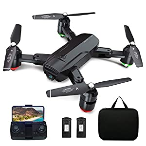 Dragon Touch Drone GPS avec Caméra,Vidéo en Direct FPV 1080P HD avec Musique de Fond,Quadricoptère Pliable,GPS Retour à…
