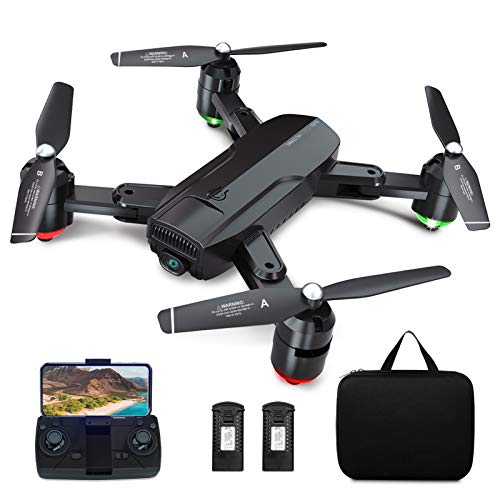 Dragon Touch GPS Drone with Camera for Adults, 1080P HD FPV Live Video with Background Music, Auto Return Home, Follow…