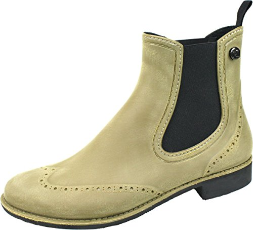 Half Chelsea Stylish Exclusive CHELSEA Brushed Stylish Boots design Rubber Waterproof BOCKSTIEGEL® khaki Women Boots SwYIw6q