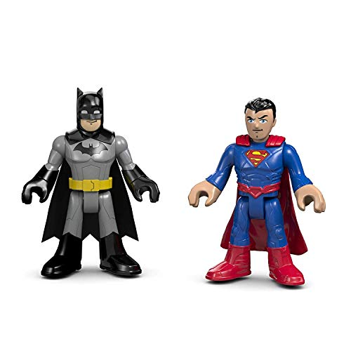 Fisher-Price Imaginext DC Super Friends Super Hero Flight City - Replacement Batman and Superman Figures]()