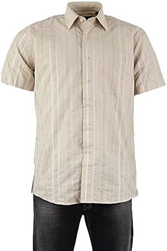 Camisa para hombre poliéster, color beige beige t4: Amazon.es ...