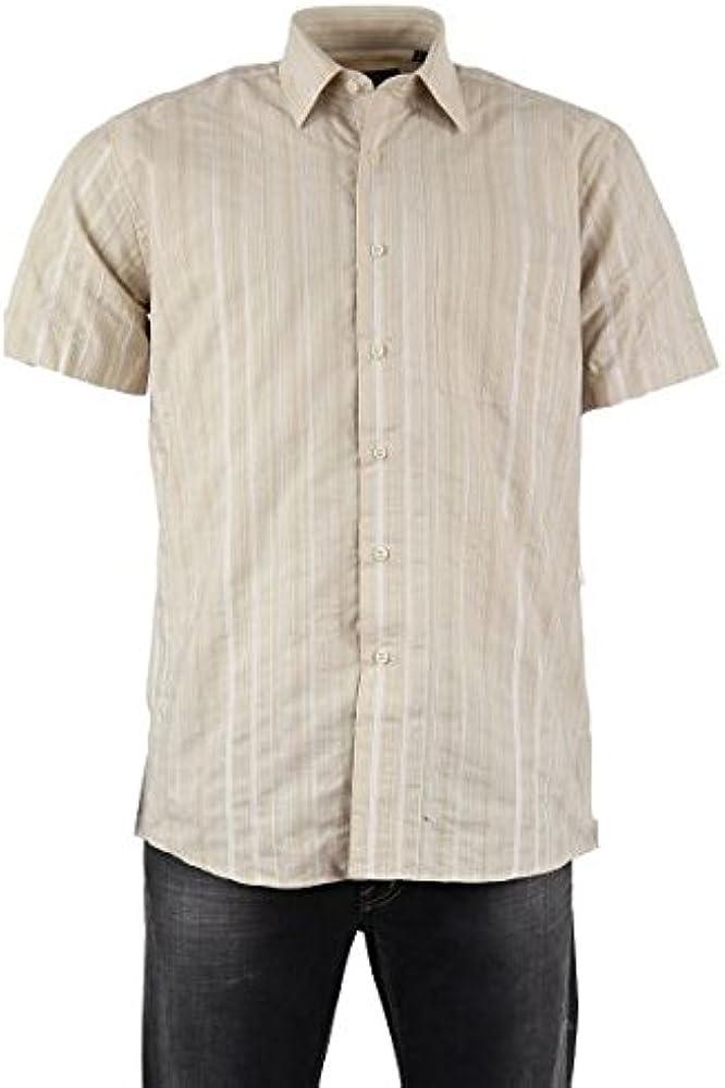 Camisa para hombre poliéster, color beige beige t4: Amazon.es: Ropa y accesorios