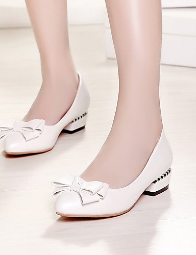 eu35 aire al cn34 bajo y Pisos piel de carrera de oficina casual zapatos azul uk3 white PDX rosa punta mujer Toe libre blanco us5 tacón sintética 4gw7xP