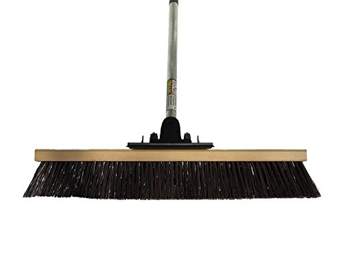FlexSweep Unbreakable Commercial Push Broom (Contractors 24 Inch) Coarse Bristles from FlexSweep