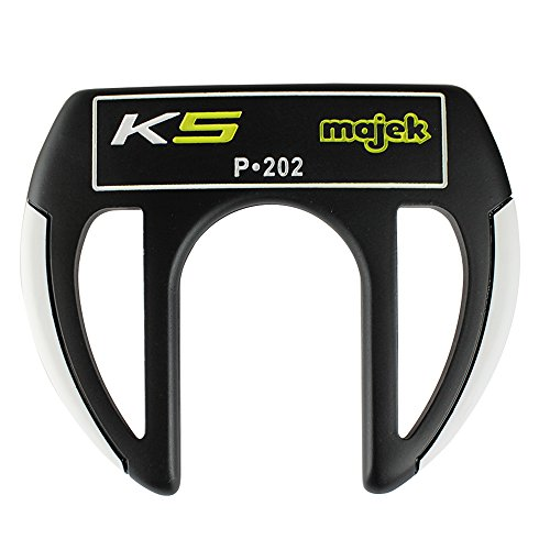 Majek K5 P-202 Golf Putter Right Handed Sabertooth Claw Style with Alignment Line Up Hand Tool 36 Inches Tall Men's Perfect for Lining up Your Putts