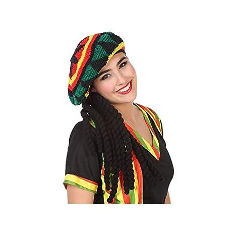 eec9f07b3d710 Atosa-57883 Gorro con Rastas Jamaicano (57883)  Amazon.es  Juguetes ...