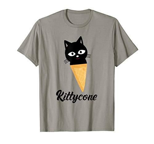 Kittycone Shirt Kitten Ice Cream Cone Cat Kitty Lovers Gift T-Shirt ()
