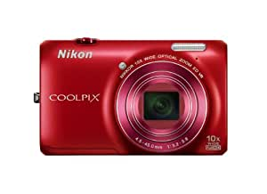 Nikon COOLPIX S6300 16 MP Digital Camera with 10x Zoom NIKKOR Glass Lens and Full HD 1080p Video (Red)