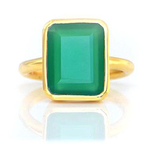 Nathis Green Onyx Large Rectangle Bezel Set Ring